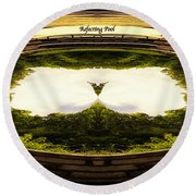 Surreal Reflecting Pool Round Beach Towel