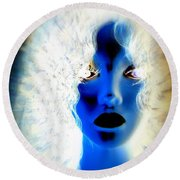 Surreal Sister Round Beach Towel