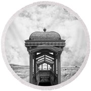 Subway Surreal Round Beach Towel by Edward Fielding