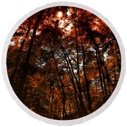 Surrounded By Autumn Round Beach Towel