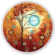 Surrounded By Love By Madart Round Beach Towel