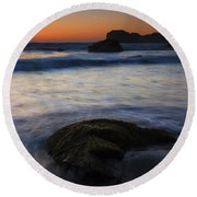 Surrounded By The Tide Round Beach Towel