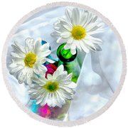 Surrounded In Love Round Beach Towel