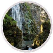 Susan Creek Falls Series 3 Round Beach Towel