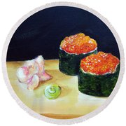 Sushi 6 Round Beach Towel