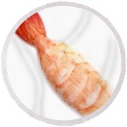 Sushi Cooked Shrimp Round Beach Towel