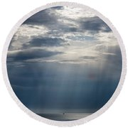 Suspended Between Heaven And Earth Round Beach Towel