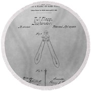 Suspender Patent Drawing Round Beach Towel