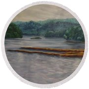 Susquehanna River At Saginaw Pa Round Beach Towel