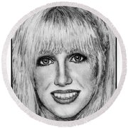 Suzanne Somers In 1977 Round Beach Towel