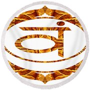 Swadhisthana Abstract Chakra Art By Omaste Witkowski Round Beach Towel