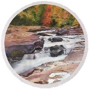 Swallow Falls Round Beach Towel