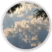 Swallow Reflection Round Beach Towel