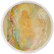 Swami Yogananda And Disciple Round Beach Towel