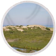 Swamp And Dunes Round Beach Towel