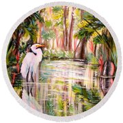 Swamp Angel Round Beach Towel