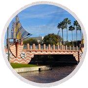 Swan And Dolphin Resort Bridge Round Beach Towel