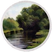 Swan Creek Round Beach Towel