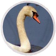 Swan Glide Round Beach Towel