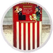 Swanage Punch And Judy Round Beach Towel