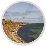 Swedish Coastline Round Beach Towel