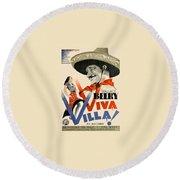 Swedish Poster #1   Viva Villa 1934-2008 Round Beach Towel