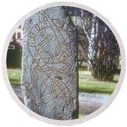 Swedish Runestone Round Beach Towel