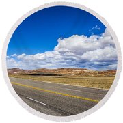 Sweeping Countryside Round Beach Towel