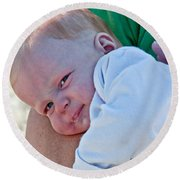 Sweet Baby Bubbles Art Prints Round Beach Towel