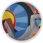 Sweet Dreams Are Made Of These Round Beach Towel