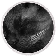 Sweet Dreams In Black And White Round Beach Towel