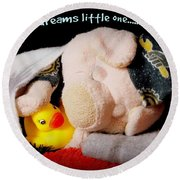 Sweet Dreams Little One Round Beach Towel