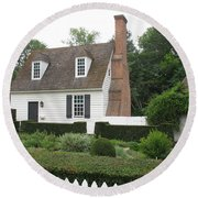 Sweet Home In Colonial Williamsburg Round Beach Towel