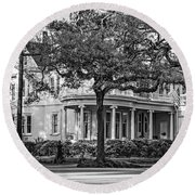 Sweet Home New Orleans Bw Round Beach Towel
