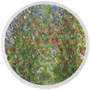 Sweet Peas Round Beach Towel
