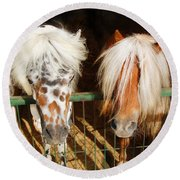 Sweet Pony Round Beach Towel