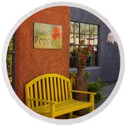 Sweet Poppy Shops Tubac Arizona Dsc08406 Round Beach Towel