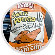 Sweet Potato Chips Round Beach Towel