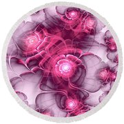 Sweet Sakura Round Beach Towel
