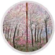 Sweet Sister Round Beach Towel