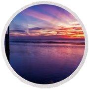 Sweet Sunset Round Beach Towel