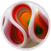 Sweet Waves Of Ribbon Candy Round Beach Towel