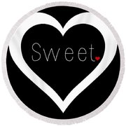 Sweetheart Round Beach Towel
