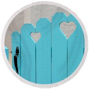 Sweetheart Gate Round Beach Towel