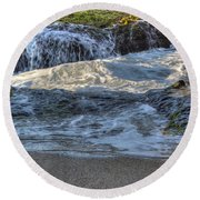 Swell And Receed  Round Beach Towel
