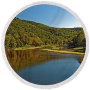 Swimming Hole Round Beach Towel