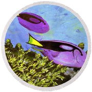Swimmingly Round Beach Towel