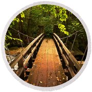 Swinging Bridge Round Beach Towel
