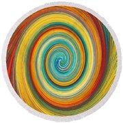 Swirl 82 Round Beach Towel