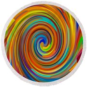 Swirl 83 Round Beach Towel